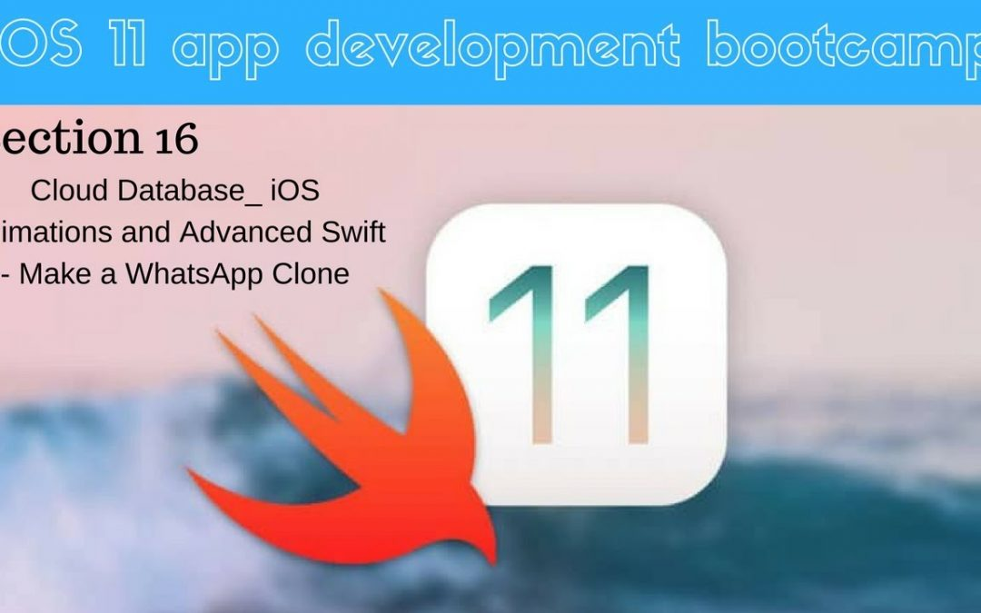 iOS 11 app development bootcamp (114 Let's Register Some Users to our App)
