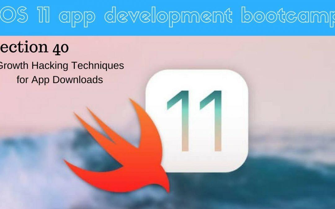 iOS 11 app development bootcamp (285 Cross Promotion)