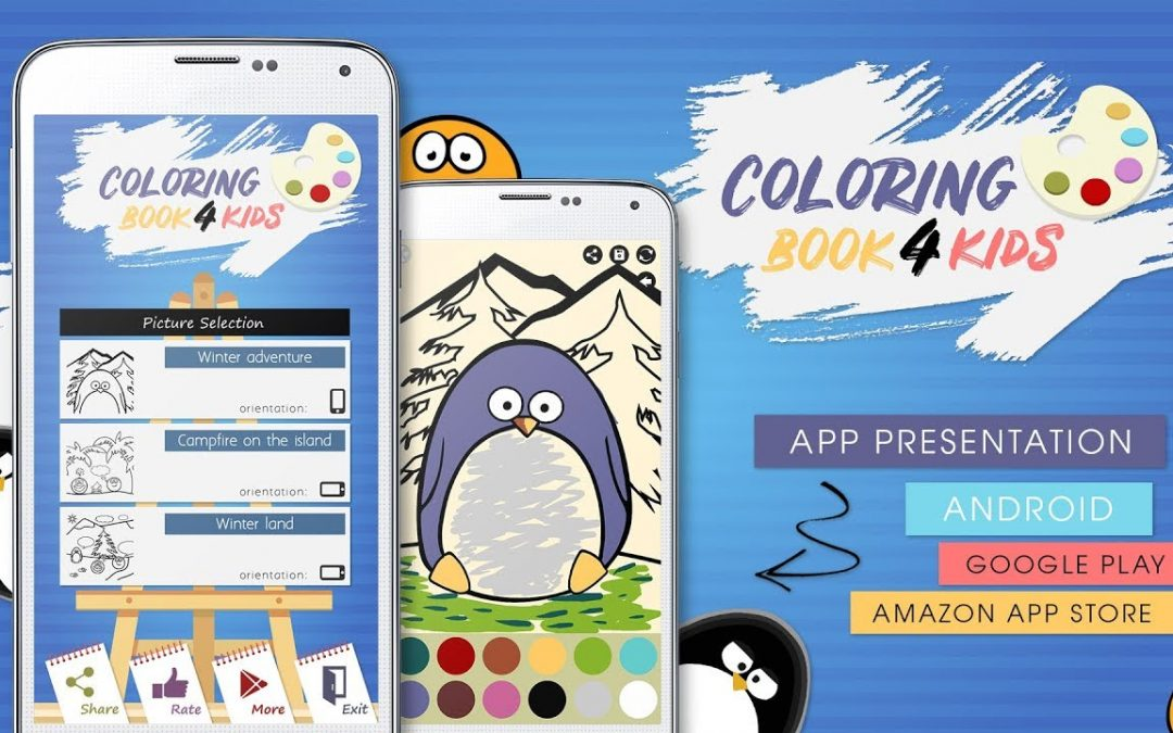 😊 Coloring Book For Kids – Android App Development Without Coding [ Adobe AIR, Animate ]
