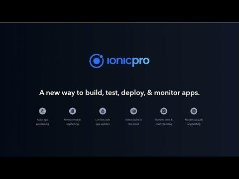 Ionic Pro: Your mobile development toolkit