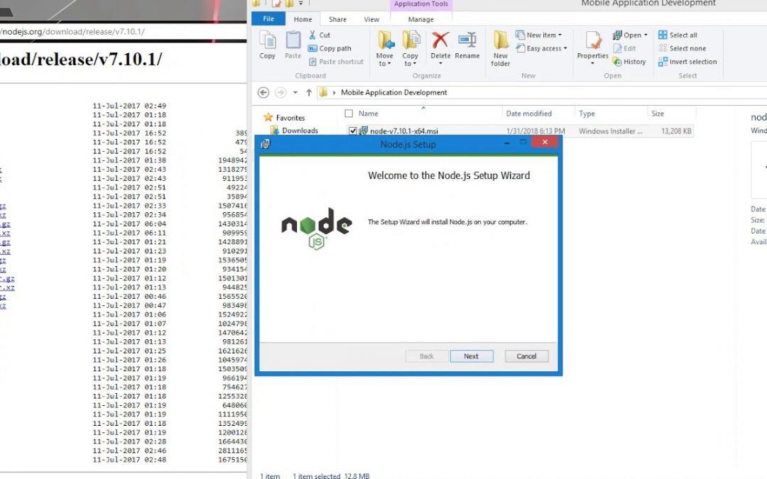 Mobile Application Development using React Native- Installing NodeJS