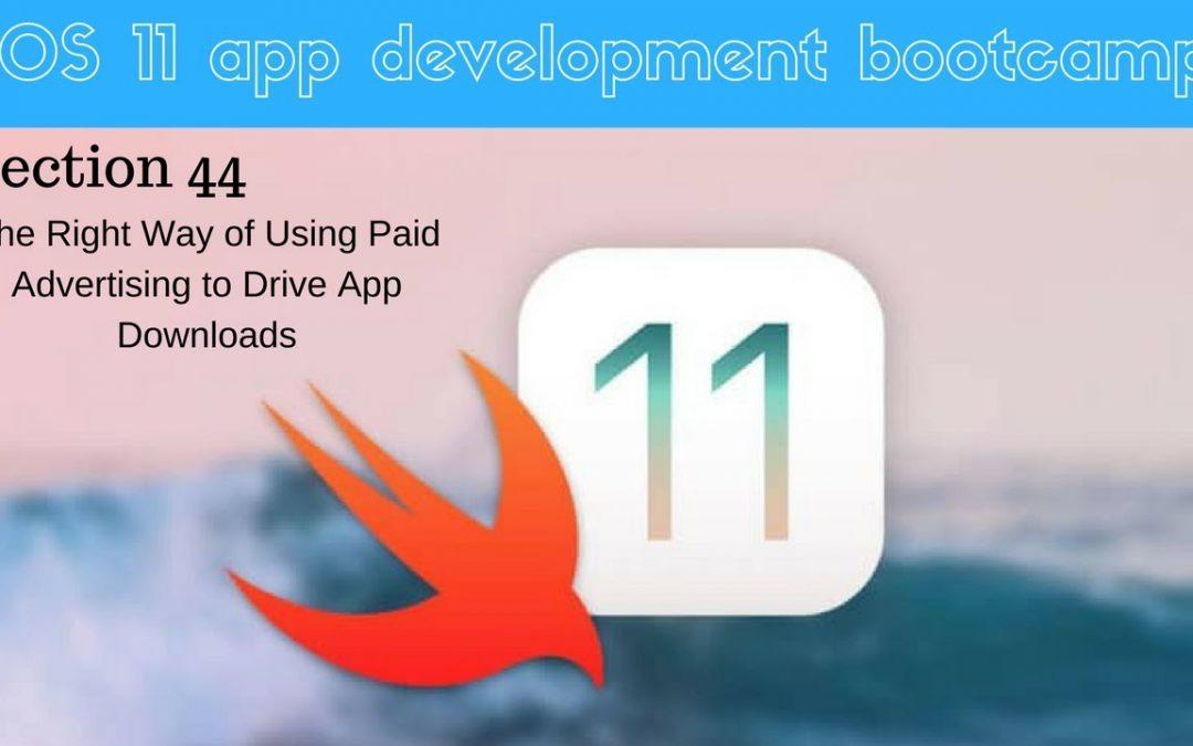 iOS 11 app development bootcamp (311 Which Platform to Advertise On)