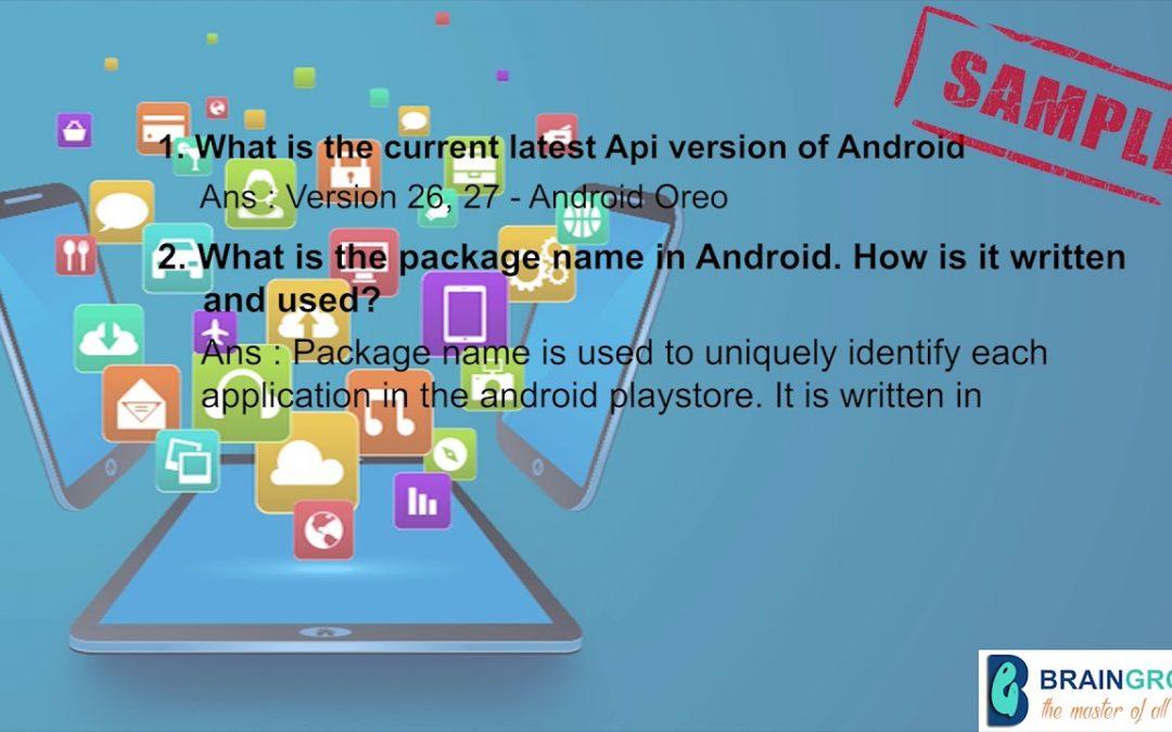 Android app development class