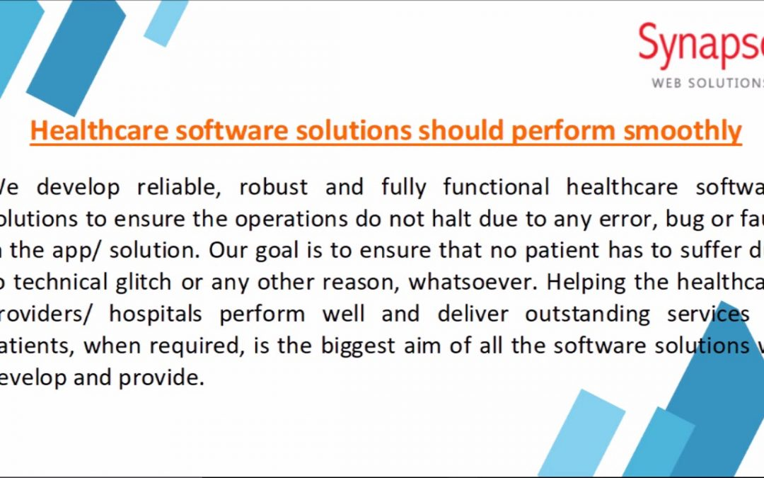 SynapseWebSolutions Healthcare Software Development Company UK