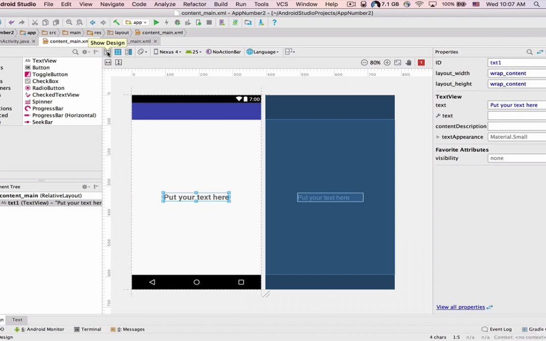 Android Apps Development part 16 | 095 App Number 2   Part 1 22