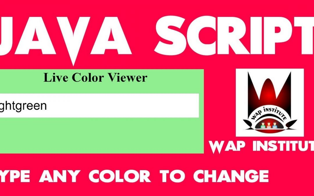 java script color viewer app development hosted by wap institute powered by sweetus media