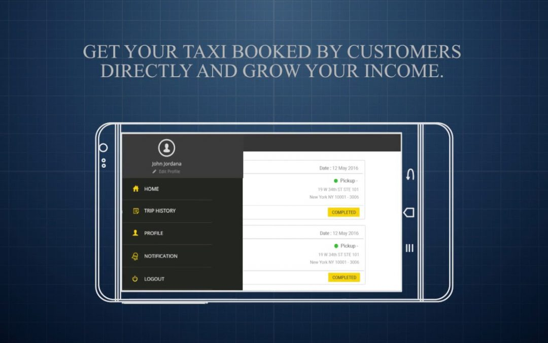 Taxi driver – Android & iOS Mobile Application Development