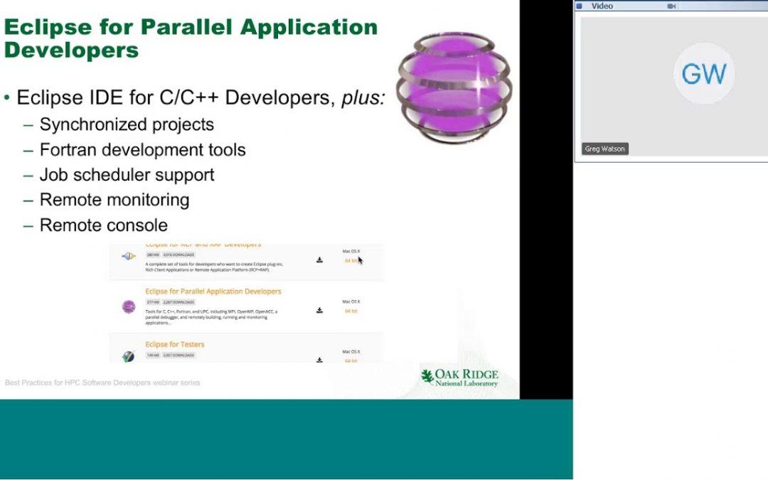 Webinar 016: Scientific Software Development with Eclipse