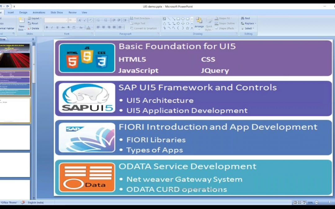 end to end UI5 application development | Fiori App development