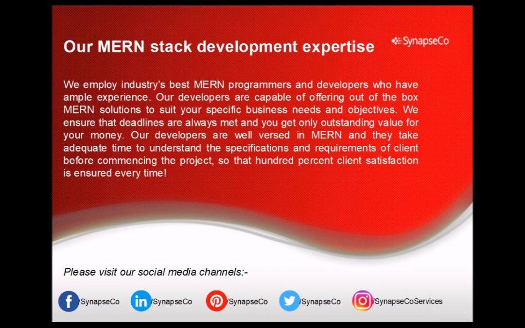 SynapseCo MERN stack development company