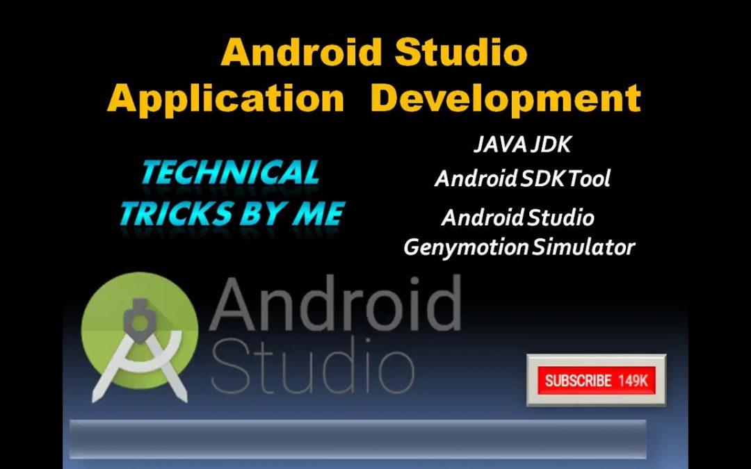 EP #1 Android Studio Java JDK Installation,application development