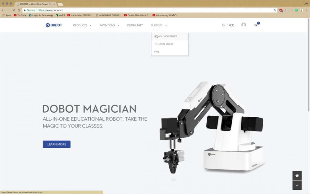 Dobot Magician Tutorials Second Development: Making your Own iOS App to control Robotic Arm Part 1