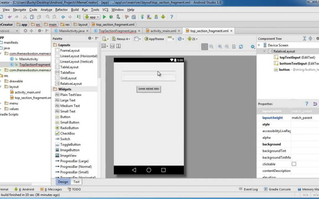 Android App Development for Beginners   25   Creating the Fragment Class