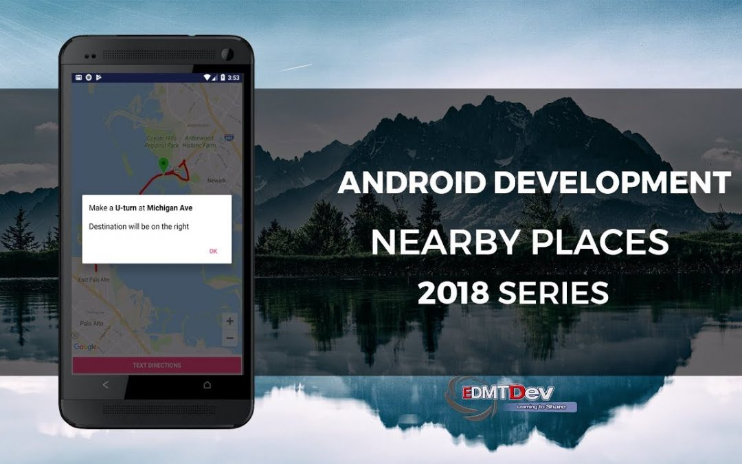 Android Development Tutorial – Google Nearby Places part 4 – Show Text Directions