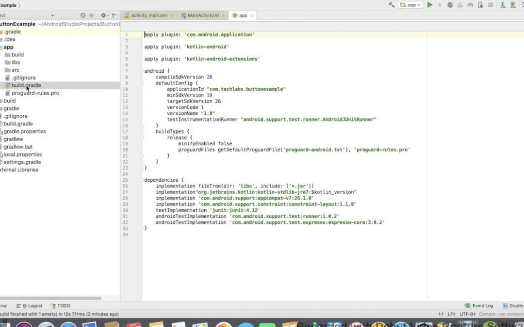 Developing Android Apps in Kotlin tutorial