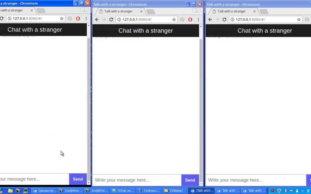 "Developing ""Chat with strangers"" mobile app in 2 hours (Speed up)"