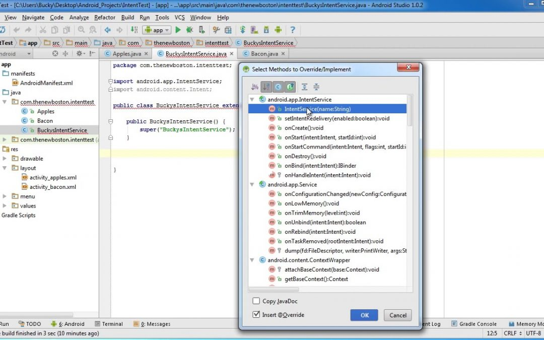 Android App Development for Beginners   41   Intent Service