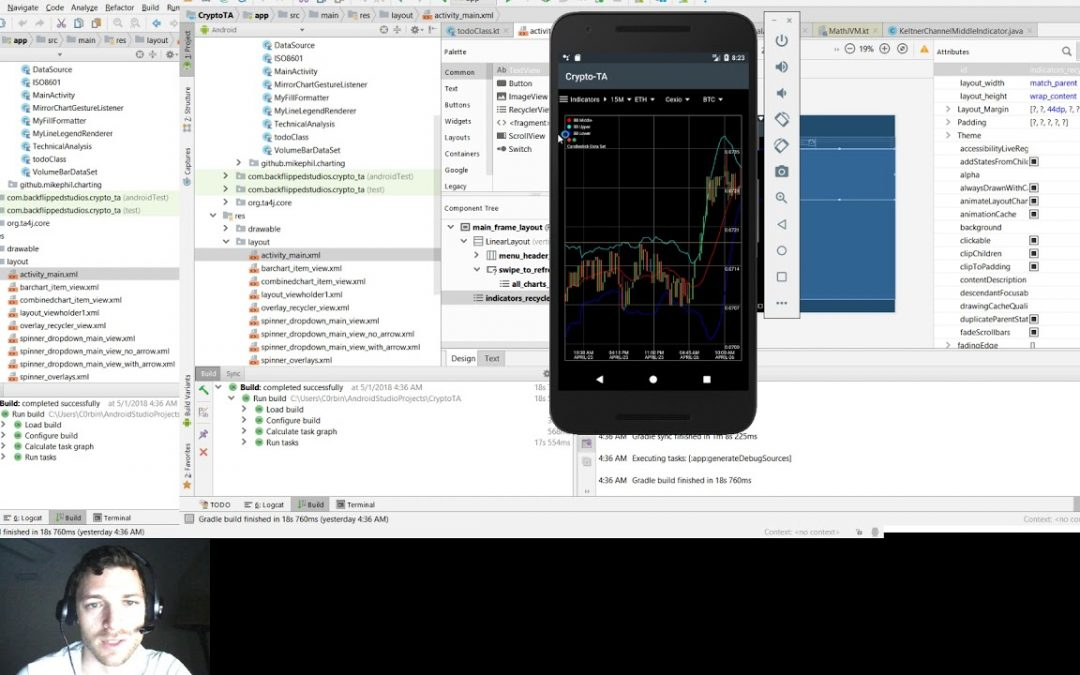 CryptoTA – 008 – Cryptocurrency Technical Analysis – Android app Development