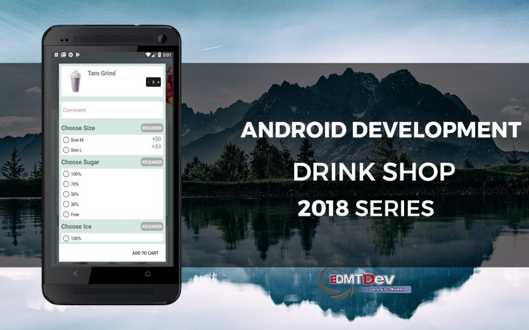 Android Development Tutorial – Drink Shop App part 7 Add To Cart Dialog
