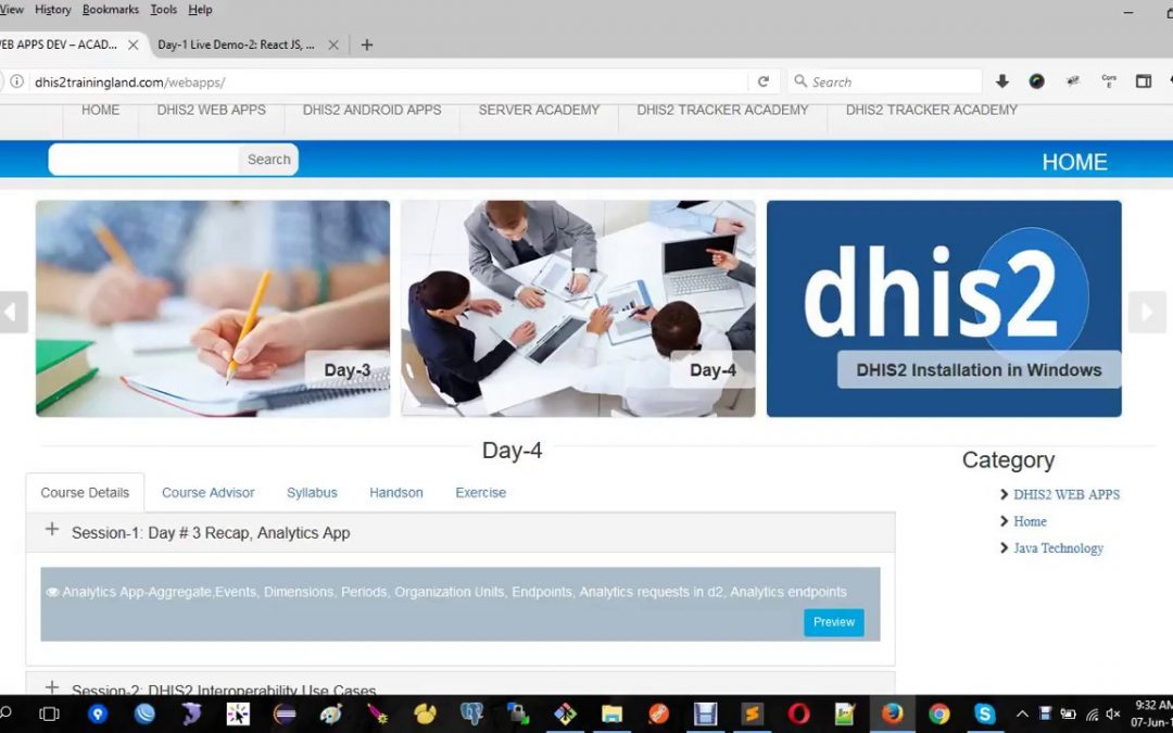 DHIS2 Web Apps development – Day 4 Session 1 Overview and Recap day 3