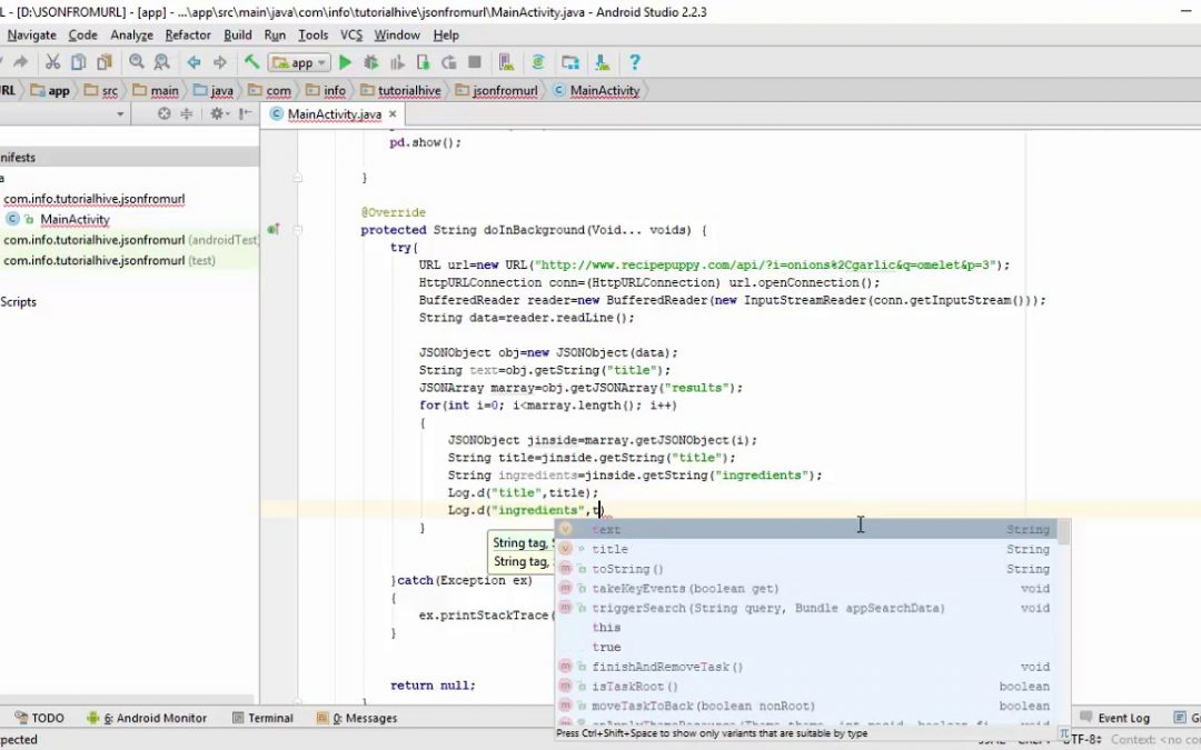 13 – JSON Parsing in Android Part 6 | Android App Development (Urdu / Hindi)
