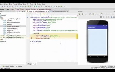 34. listview in android studio in Hindi/Urdu- Android App Development